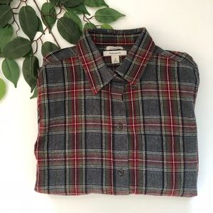Men's LL Bean Relaxed Fit Flannel Button Down Top